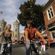 mit dem Fahrrad durch das Holländische Viertel in Potsdam