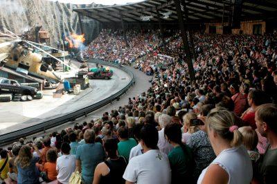 Filmpark Babelsberg/Stuntshow im Vulkan