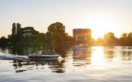 Auf dem Wasser unterwgs in Potsdam