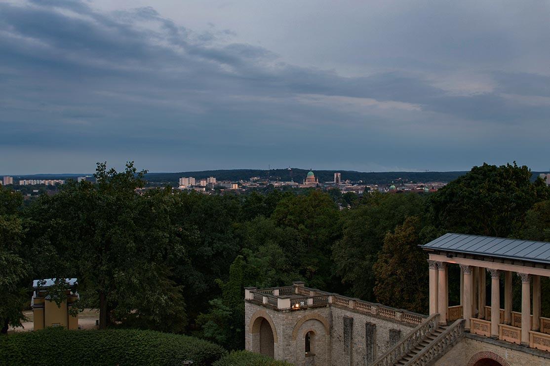 Ausblick vom Pfingstberg-Belvedere