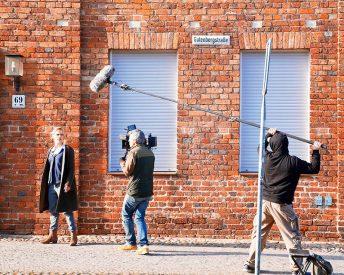 """Filmdreh für """"SOKO Potsdam"""" in der Gutenbergstraße"""