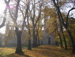 Das Belvedere auf dem Pfingstberg in Herbststimmung