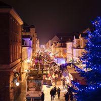 Weihnachtsmarkt Brandenburgerstraße - Blauer Lichterglanz