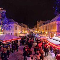 Weihnachtsmarkt Blauer Lichterglanz in der Potsdamer Innenstadt