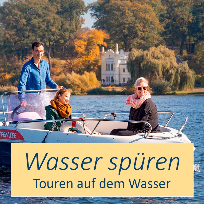 Übersicht der Touren auf dem Wasser