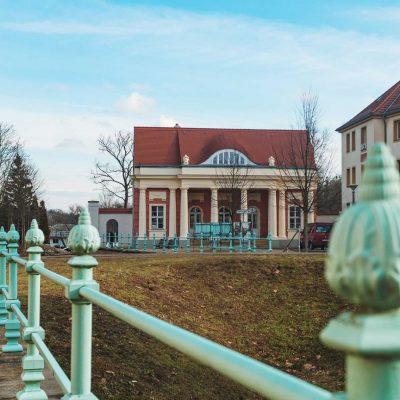 Grünes Gitter am Stadtkanal in Potsdam