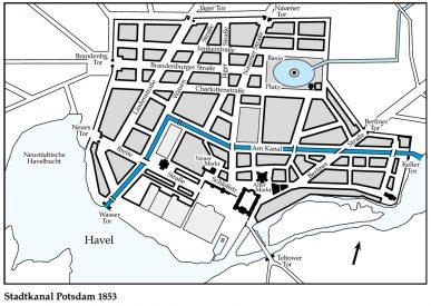 Grafik zum Verlauf des barocken Stadtkanals, veröffentlicht unter CC BY-SA 3.0