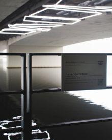 Lichtinstallation an der Humboldtbrücke