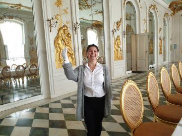 Das niederländische Königspaar war zu Gast in Potsdam. Das Hotel Bayrisches Haus richtete das Essen im Ovidsaal aus.