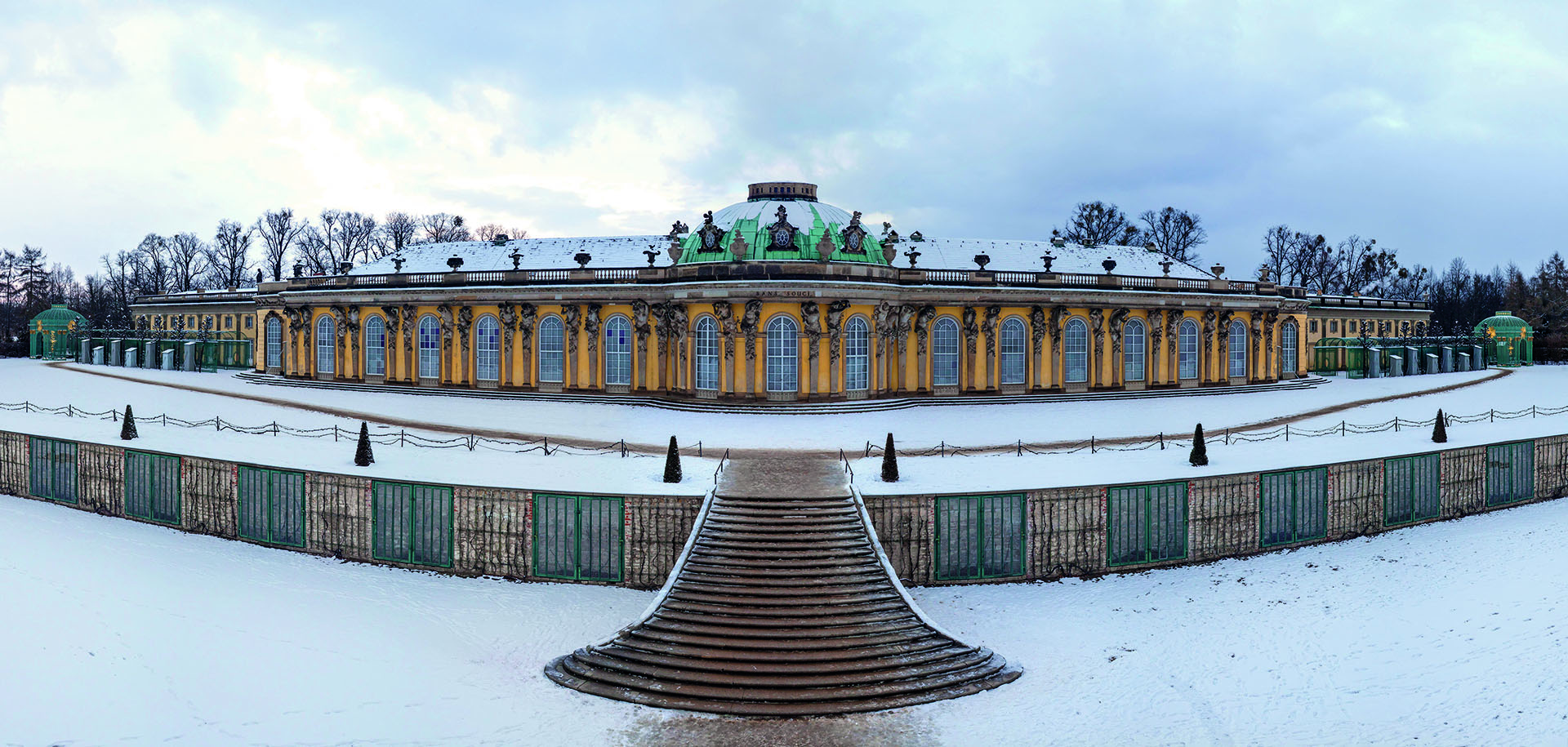 Schloss Sanssouci im Winter, Foto: PMSG/ SPSG André Stiebitz