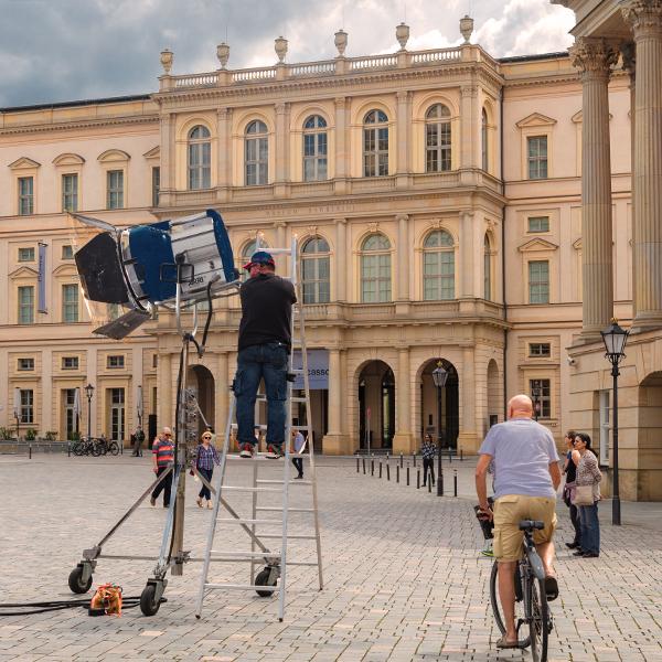 Filmdreh am Alten Markt, Foto: PMSG/ André Stiebitz