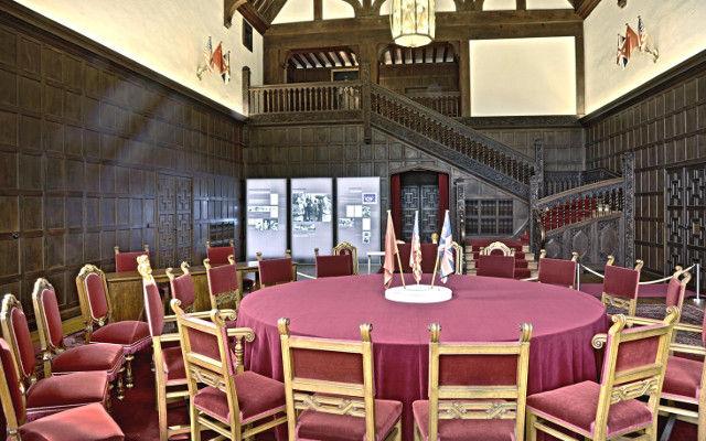 Schloss Cecilienhof, Konferenzsaal © SPSG / Foto: Wolfgang Pfauder