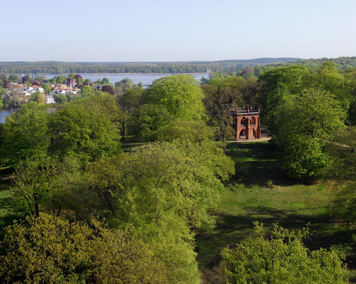 Park Babelsberg, Blick vom Flatowturm © SPSG