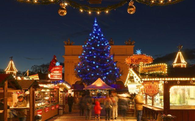Blauer Lichterglanz Weihnachtsmarkt, Foto: Landeshauptstadt Potsdam/Ulf Böttcher