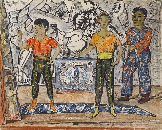 Erich Heckel ,Chinesische Artisten, Foto: Dr. Nöth Galerie