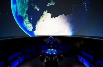 Urania-Planetarium Potsdam - Innenansicht, Foto: Yvonne Dickopf
