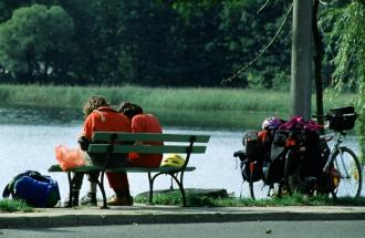 Rast am Ufer des Schwielowsees