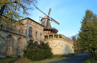 Historische Mühle von Sanssouci und Mühlenhaus, Foto: Mühlenvereinigung/Torsten Rüdinger