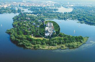INSELHOTEL Potsdam-Hermannswerder - Luftaufnahme