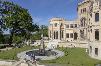 Schloss Babelsberg in Potsdam, Foto: André Stiebitz, Lizenz: PMSG/ SPSG